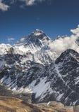 Everest summit captured from Gokyo Ri peak in Himalaya. S, trekking in Nepal stock image