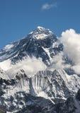 Everest summit captured from Gokyo Ri peak in Himalayas. Trekking in Nepal royalty free stock image