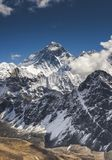 Everest summit from Gokyo Ri peak in Himalayas. Everest Base camp trek in Nepal stock photography