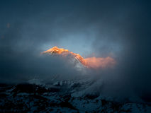 Everest in the sunset royalty free stock photo