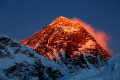 Everest in the sunset Stock Photos