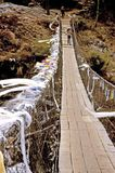 Everest Trek Suspension Bridge Stock Images