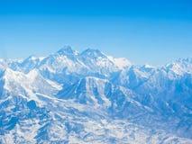 Everest ; View from Kala Pattar , Nepal. Everest and Lhotse mountain peaks. View from Kala Pattar - Nepal Royalty Free Stock Photos