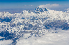 Everest. View of Mt Everest, Himalayas mountains, Tibet royalty free stock images