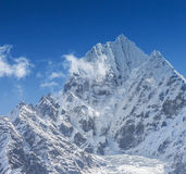 Everest View. Trekking around Namche Bazaar and views to Everest Sagamatha national Park Nepal Royalty Free Stock Photography