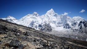 Everest viewed from Kala Pattar. Everest ridge viewed from Kala Pattar view point Royalty Free Stock Photo