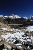 Everest views from Renjo Pass, Nepal. royalty free stock photos