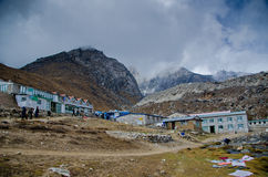 Everest village - Lobuche Stock Image