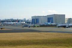 EVERETT, ΟΥΑΣΙΓΚΤΟΝ, ΗΠΑ - 26 Ιανουαρίου 2017: Ένα ολοκαίνουργιο Ryanair Boeing 737-800 επόμενο GEN MSN 44766, EI-FTP εγγραφής Στοκ Εικόνες
