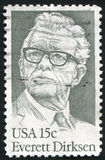 Everett Dirksen. UNITED STATES - CIRCA 1981: stamp printed by United states, shows Everett Dirksen, circa 1981 stock photo