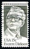 Everett Dirksen USA znaczek pocztowy Zdjęcia Stock