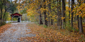 Free Everett Road Covered Bridge Stock Photography - 89204202