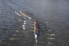 Everett Rowing Association tries to pass Eton Rowi Royalty Free Stock Photo