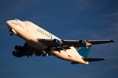Boeing Dreamlifter dans Everett Washington photos libres de droits