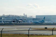 EVERETT, WASHINGTON, EUA - 26 de janeiro de 2017: Um Gen seguinte MSN 44766 de Ryanair Boeing 737-800 brandnew, registro EI-FTP Imagens de Stock