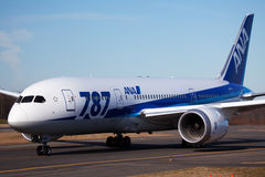 Boeing 787 All Nippon Airways Foto de archivo