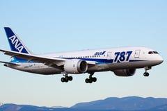 Boeing 787 - All Nippon Airways Imagen de archivo