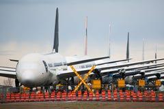 Boeing 787 stored in Everett, Washington Royalty Free Stock Image