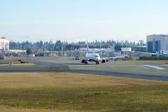 EVERETT, WASHINGTON, USA - JAN 26th, 2017: A brand new Ryanair Boeing 737-800 Next Gen MSN 44766, Registration EI-FTP Royalty Free Stock Photography