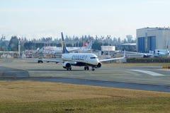 EVERETT, WASHINGTON, USA - JAN 26th, 2017: A brand new Ryanair Boeing 737-800 Next Gen MSN 44766, Registration EI-FTP Stock Photos
