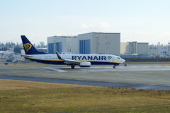 EVERETT, WASHINGTON, USA - JAN 26th, 2017: A brand new Ryanair Boeing 737-800 Next Gen MSN 44766, Registration EI-FTP Stock Images