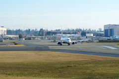 EVERETT WASHINGTON, USA - JANUARI 26th, 2017: Splitterny Ryanair Boeing 737-800 en nästa Gen MSN 44766, registrering EI-FTP Royaltyfri Fotografi