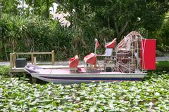 Everglades airboat in Zuid-Florida Stock Afbeeldingen