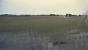 Everglades national park 1979. Everglades National Park, Florida, United States - Circa 1979: speed airboat tour to see typical mangrove vegetation and stock footage