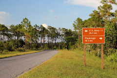 Everglades Road Sign Royalty Free Stock Photos