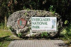 evergladesnationalpark Arkivfoto