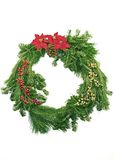 Evergreen Christmas Wreath Royalty Free Stock Photos