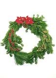 Evergreen Christmas Wreath Royalty Free Stock Photos