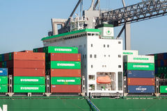 Evergreen container ship Royalty Free Stock Images
