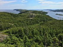 View from Pike`s Arm, Newfoundland Royalty Free Stock Photography