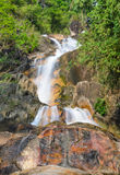 Evergreen forest waterfall Royalty Free Stock Image