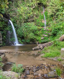Evergreen forest waterfall in Chiang Mai, Thailand Stock Photos