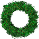 Evergreen holiday wreath. Simple evergreen holiday wreath in circular shape. Vector  illustration Stock Images
