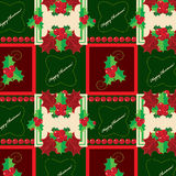 Evergreen hollies pattern Royalty Free Stock Photography