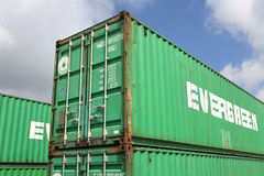 Evergreen intermodal container Royalty Free Stock Photography