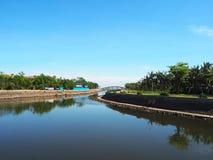 Evergreen parkerar, den Haikou staden, den Hainan ön, Kina Royaltyfri Foto