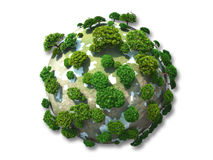 Evergreen planet Royalty Free Stock Image