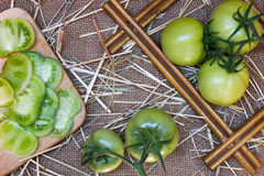Evergreen tomatoes Stock Images