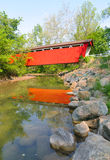 Everitt Road Red Covered Bridge Royalty Free Stock Photos