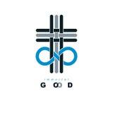 Everlasting Christian Belief in God vector creative symbol desig Stock Photos