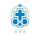 Everlasting Christian Belief in God vector creative symbol desig Royalty Free Stock Photography