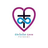 Everlasting Christian Love and True Belief in God vector creativ Royalty Free Stock Images