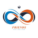 Everlasting Friendship, forever friends, creative vector symbol Royalty Free Stock Photography