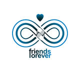Everlasting Friendship, forever friends, creative vector symbol Stock Photography