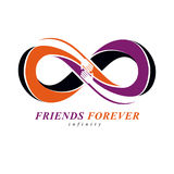 Everlasting Friendship, forever friends, creative vector symbol Royalty Free Stock Image