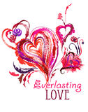 Everlasting love. Hand drawn creative illustration for Valentines day Stock Photo